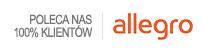 Poleca nas 100% klientów na Allegro